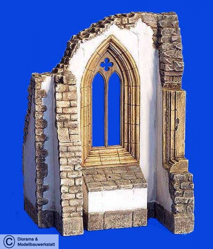 diorama zubeh r gotisches kathedralen fenster in 1 35 diorama shop wei diorama und. Black Bedroom Furniture Sets. Home Design Ideas