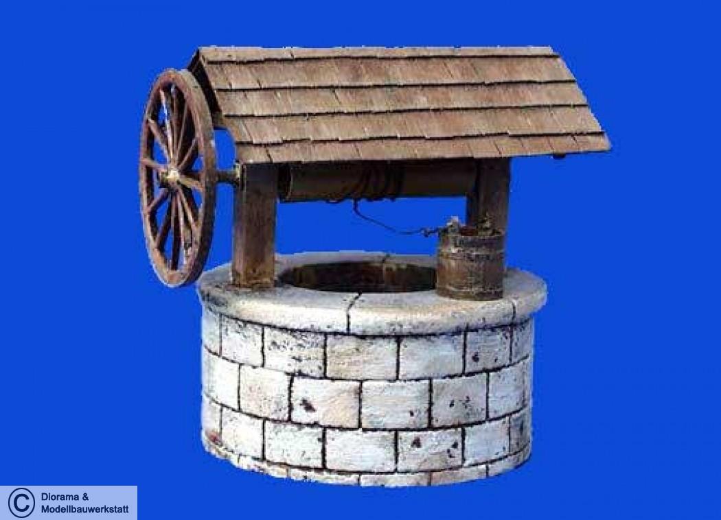 Brunnen Bausatz.Diorama Zubehör Brunnen Mit Seilwinde In 1 35 Diorama