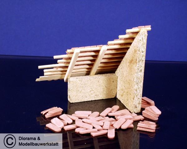 ziegelrot 1:32 400 Keramik Biberschwanz Dachziegel