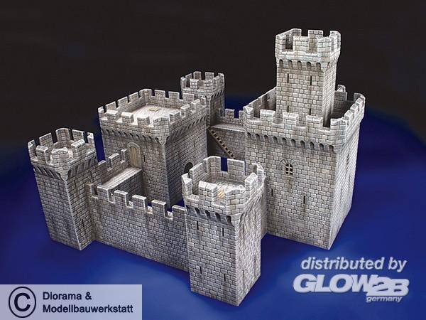 Mittelalterliche Burg in 1:72 - Diorama Shop Weiß ...