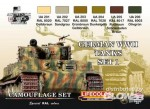 German vehicle WWII Camouflage set n.1, Tarnfarben Set 1