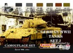German vehicle WWII Camouflage set n.2, Tarnfarben Set 2