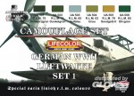 German Luftwaffe WWII Color Set 1, deutsche Luftwaffe WWII Farbs
