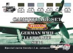 German Luftwaffe WWII Color Set 2, deutsche Luftwaffe WWII Farbs