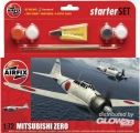 Starter Set Mitsubishi Zero (new tool) in 1:72