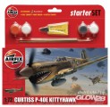 Curtiss P-40E Kittyhawk Kleines Einsteiger-Set in 1:72
