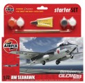 FEA6 Sea Hawk Aircraft Kleines Einsteiger-Set in 1:72